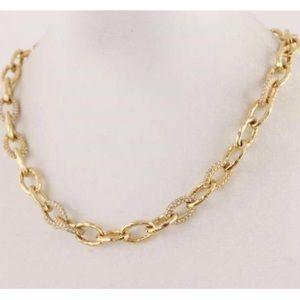 :: Stella & Dot GOLD Christina Pavé Necklace